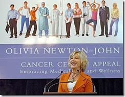 Campaña: en Melbourne, Australia, durante una de las actividades de su campaña contra el cáncer en 2006.